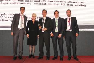Entrega premio Special European Award 2013 de CBI